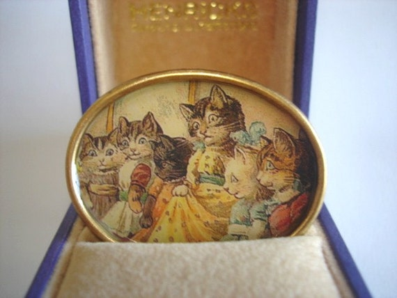 Cats Family Jewelry Brooch