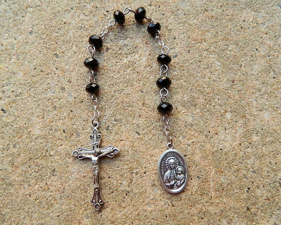 Black Madonna/ Our Lady of Czetochowa Prayer Chaplet Rosary 3