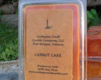 Carrot Cake Pure Soy Covington Creek Candle Company  Breakaway Melt.