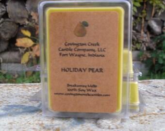 Holiday Pear Pure Soy Breakaway Melt.
