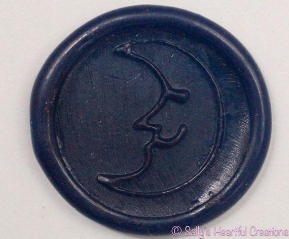 Moon Flexible Self Adhesive Faux Wax Seals