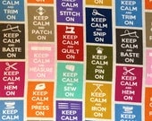 2/3 Yard Keep Calm Fabric by Timeless Treasures