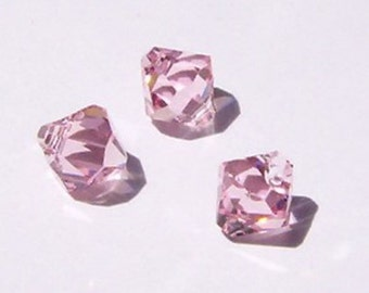 Swarovski elements Top-Drilled Bicone 6301 Pendants Light Rose (pink) -- Available in 6mm and 8mm