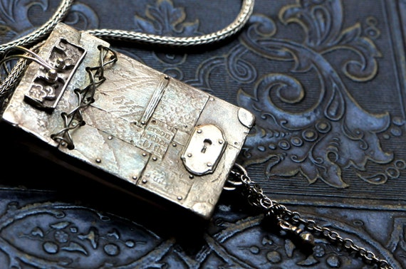 Scrapbook Pendant on Sterling Silver Chain