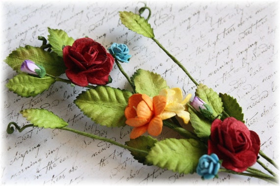 Over the Rainbow Rose Vine for Scrapbooking