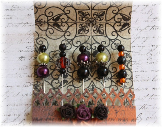 Mini Matchbook Stick Pins Trick or Treat for Scrapbooking or Cardmaking