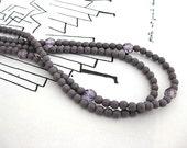 Purple Czech Glass Double Strand Necklace