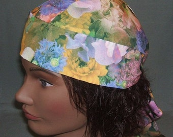 Do Rag Still Life Floral Silky Photographic Print Head Wrap Biker Do Rag Skullcap for Motorcycle Riding or Chemotherapy Patients