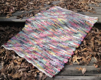 Made-to-order Multi-color Cotton Looper Rug, 2' x 3'