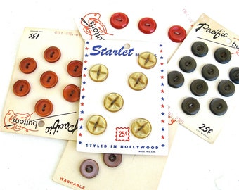button me up  ...   colorful vintage button collection