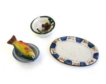 vintage miniature pottery  ...  dollhouse accessories