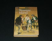 Vintage 1963 Treasure Island by Robert Louis Stevenson - Collectible Art Illustrated Hardcover Book