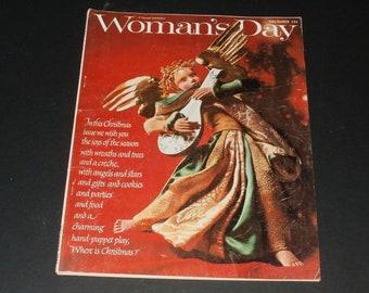 Vintage Womans Day Magazine December 1963 - Retro Hair Styles Paper Ephemera Art Scrapbooking Vintage Ads Retro