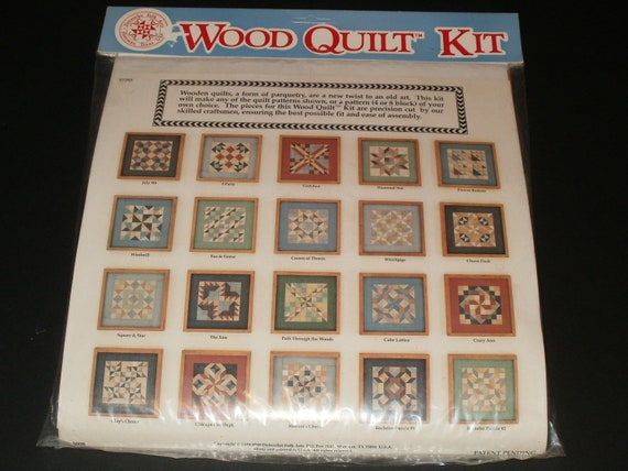 Wood Quilt Kit Parquetry Pre Cut Wood Hobbies Art