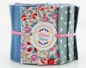 Scrumptious Honey Sweet Quilt Jelly Roll Fabric 20 Strips Floral Gingham Polka Dot Navy Blue Green Red