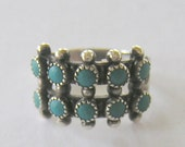 Vintage Sterling and Turquoise Southwestern Ring