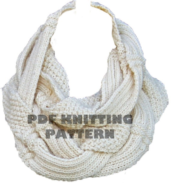 Challah Infinity Scarf PDF Knitting Pattern Instant Download from PamPowersKn...