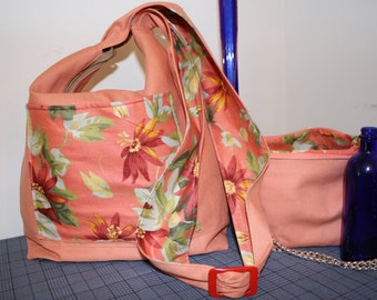 Hand Crafted  Beauitful HoBo Hippie-Crossbody bag with coin Purse-Spring Sale.