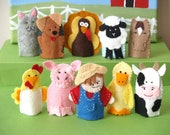 Old MacDonald Finger Puppets (Choose 4)
