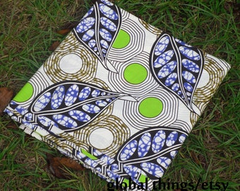 African Wax Cotton Print Fabric - Ankara Fabric - Winter is Nigh - Fat Quarter
