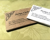 REORDER Business Cards 50 Celtic Design Custom Wording Kraft Brown, White or Ivory Cardstock