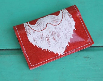 ON SALE - Weird Beard Mini Wallet - Red Metal Flake - Don't fake the funk