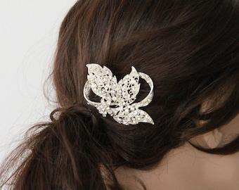 Rhinestone Bridal Hair Comb, bridal hair piece crystal