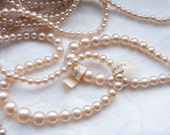 6 strands 1940s Glass Pearls / Made in Occupied Japan / 12 strands at 17 inches each