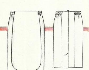 APRON Skirt pattern for PLUS SIZES.-