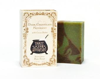 Dark Chocolate & Peppermint Bar Soap 1.75 oz.