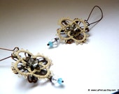 Filigree Lace Tatted Earrings Vintage Feel - COUNTRY ACQUA - boho chic