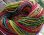 Rainbow Handspun Yarn -- 65 yards Merino Wool