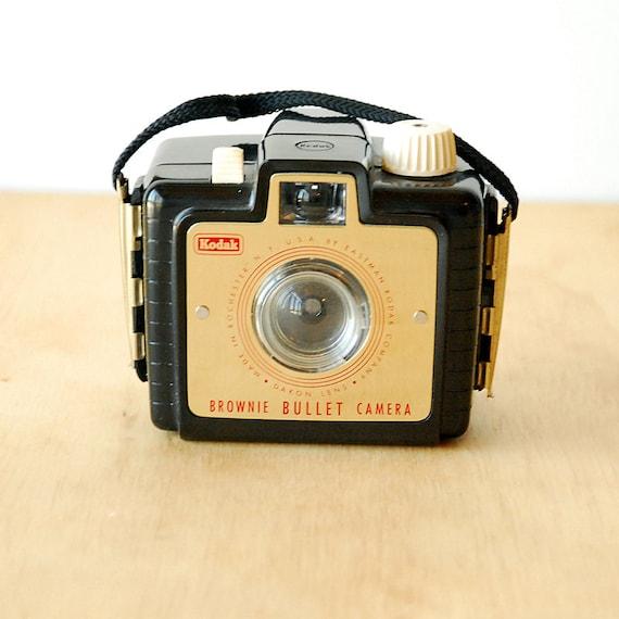 Kodak Brownie Bullet Camera - Vintage 1950s Box Camera with Original Box -- MINT condition