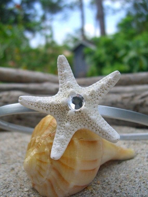 Starfish Silver Headband-SILVER-Mermaids, Beach Weddings, Summer Hair, Starfish Headband, Starfish, Photo Props, Mermaid Party Theme