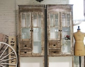 RESERVED Painted Cottage Chic Shabby Handmade Farmhouse Cabinet
