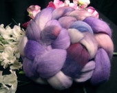 Handpainted Falkland Roving - GRAPE 4oz