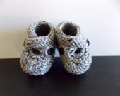 15% off Autumn Harvest Sale Grey Tweed Newborn to 3 months Baby Booties