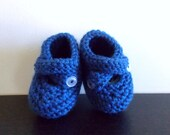 15% Off Autumn Harvest Sale Royal Blue Newborn to 3 months Baby Booties