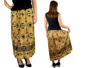 1960s maxi skirt, MOD maxi, metallic skirt, lurex gold maxi skirt, Mad Men, hostess skirt, shiny long skirt, size m