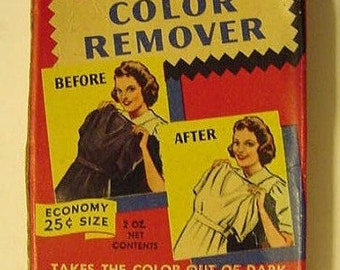 TINTEX Color Remover 1940s/50s Vintage  Laundry Dye Box Colorful Advertising UNUSED