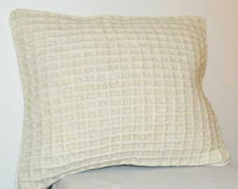 Fisherman's Felted Wool Pillow Grid Pattern