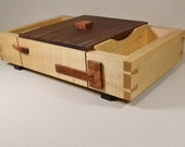 Maple and Walnut Valet Box