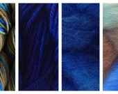 Hand Dyed Samples of Merino Wool DK Sport Weight Yarn in Blue Grass