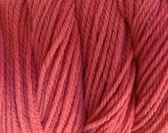 Pear Pink Worsted Weight Hand Dyed Merino Wool Yarn