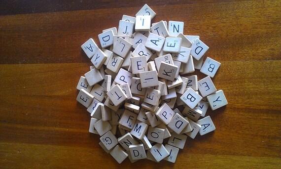 136 Scrabble Tiles