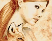 Modern Cross Stitch Pattern  PDF- Kindred -Red Fox -  Fairy Fantasy Chart  PDF