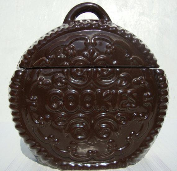 Vintage 40s Cookie Cookie Jar By Cherryberryvintage On Etsy