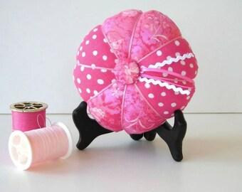 Pink Pincushion - Pink Needle Holder - Pin Cushion - Sewing Accessory