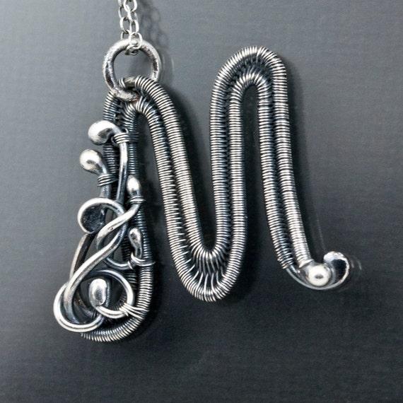 M Letter In Silver Fine Silver Mon...
