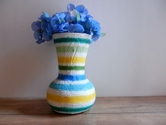 Reserved / Vase / Colorful home decor vases by Kristin Carriage Oak Cottage